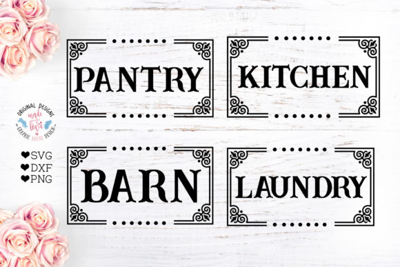 Print on Demand: Laundry Barn Kitchen Pantry Gráfico Crafts Por GraphicHouseDesign