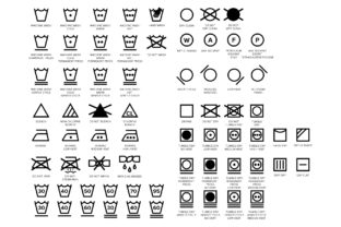 Laundry Care Symbol Icons Set Graphic By Running With Foxes
