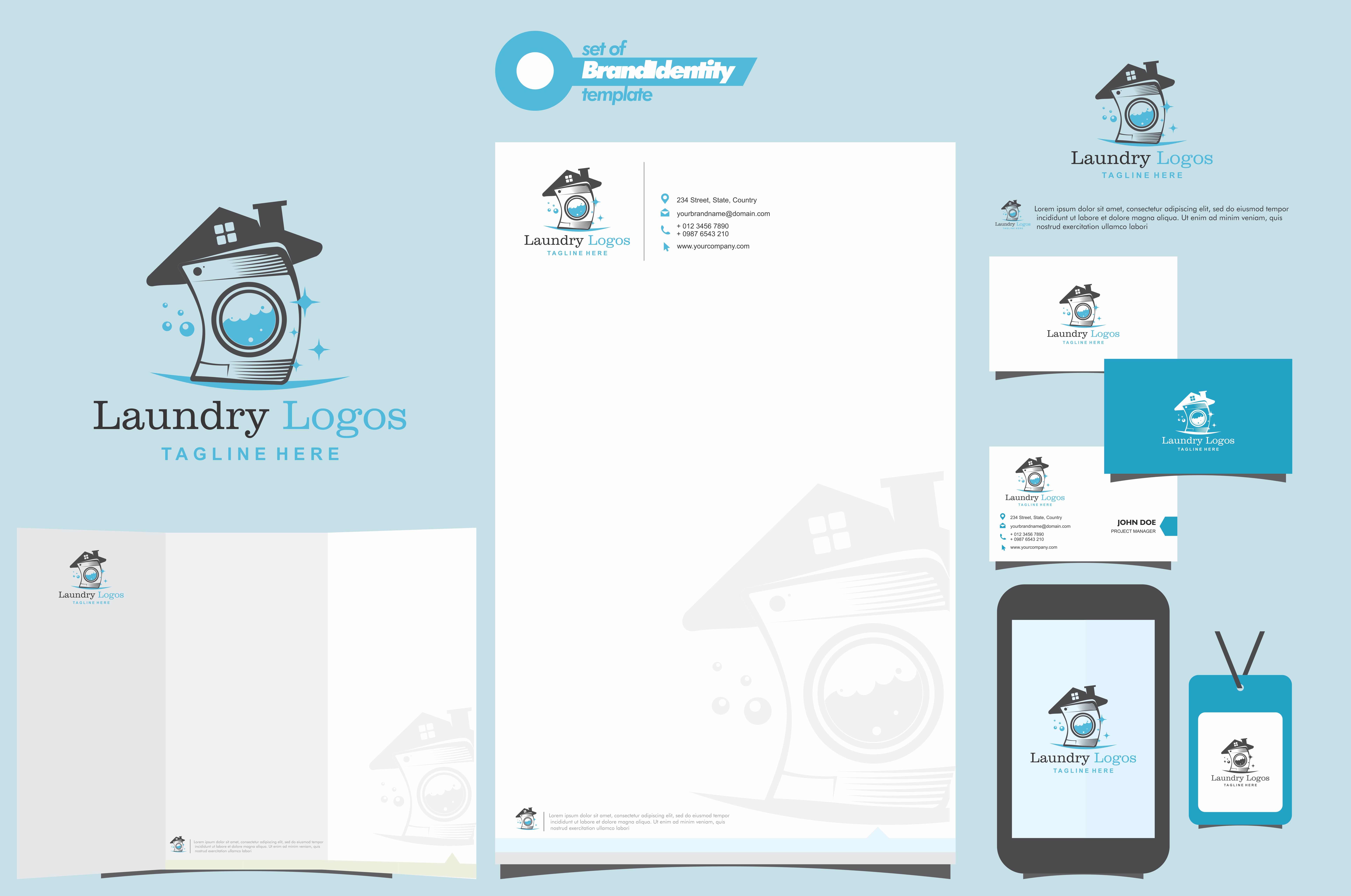 Download Free Laundry Logo Vector Template Graphic By Ahsancomp Studio for Cricut Explore, Silhouette and other cutting machines.