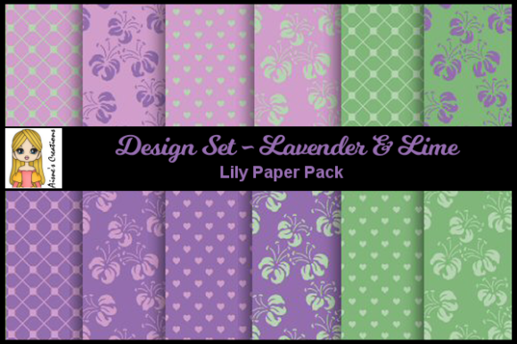 Lavender & Lime - Lily Paper Pack Graphic By Aisne