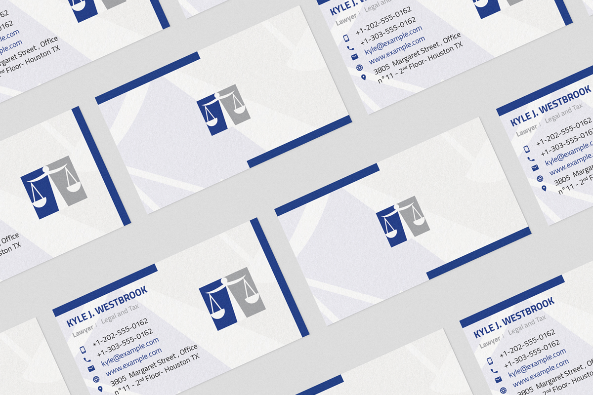 Download Free Lawyer Law Firm Clean Business Card Graphic By Listenerstudio for Cricut Explore, Silhouette and other cutting machines.