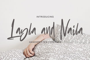 Layla and Naila Font By missinklab