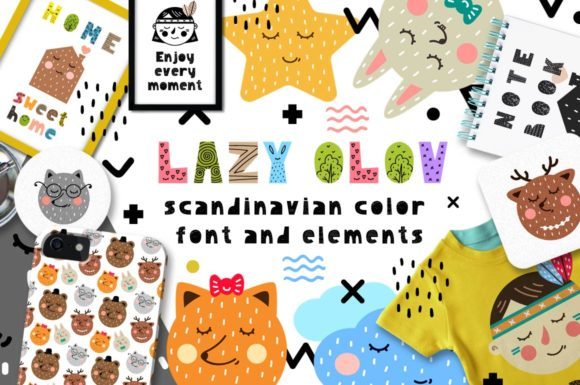 Print on Demand: Lazy Olov Color Fonts Font By Juliya Kochkanyan