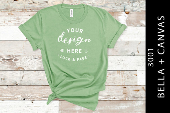 Leaf Bella Canvas 3001 T Shirt Mockup Graphic Product Mockups By lockandpage