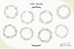 Leave Me Happy Wreaths Leaves Watercolor Graphic By Bloomella