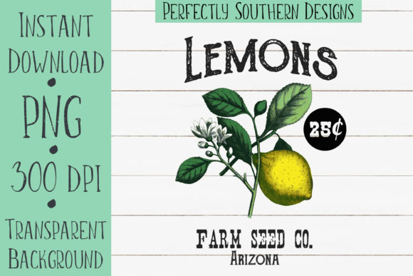 Print on Demand: Lemon Seed Packet Design Graphic Crafts By PerfectlySouthernDesigns
