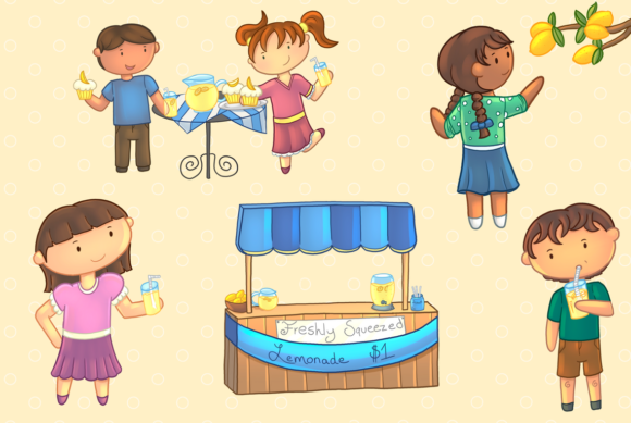 Download Free Lemonade Stand Grafico Por Keepinitkawaiidesign Creative Fabrica for Cricut Explore, Silhouette and other cutting machines.