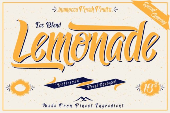 Lemonade Display Font By inumocca_type