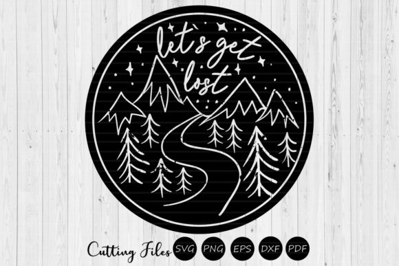 Download Free Lets Get Lost Camping Svg Graphic By Hd Art Workshop Creative for Cricut Explore, Silhouette and other cutting machines.