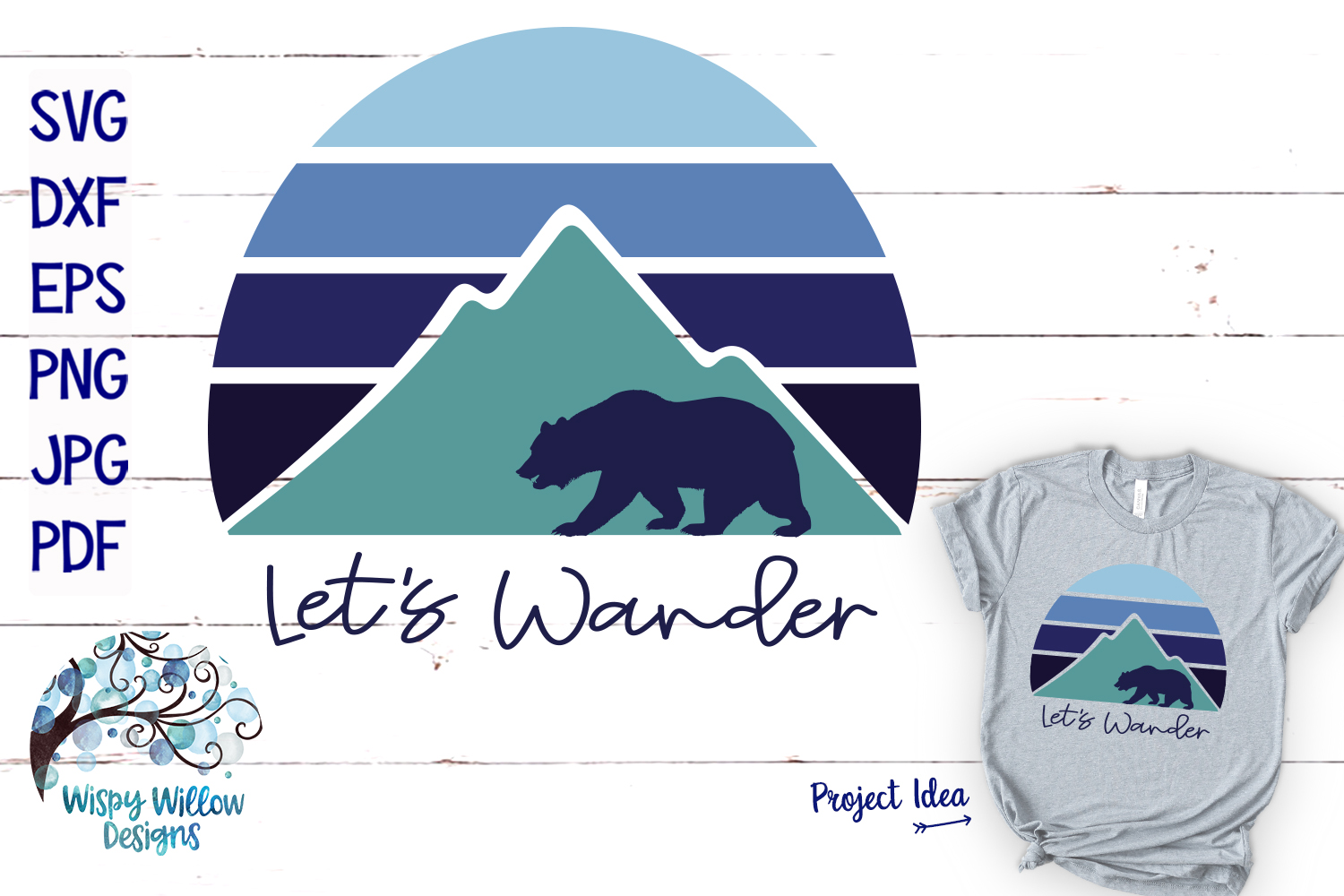 Let S Wander Outdoor Camping Bear Svg Graphic By