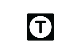 Letter T Icon Graphic Icons By Cowboy Studios