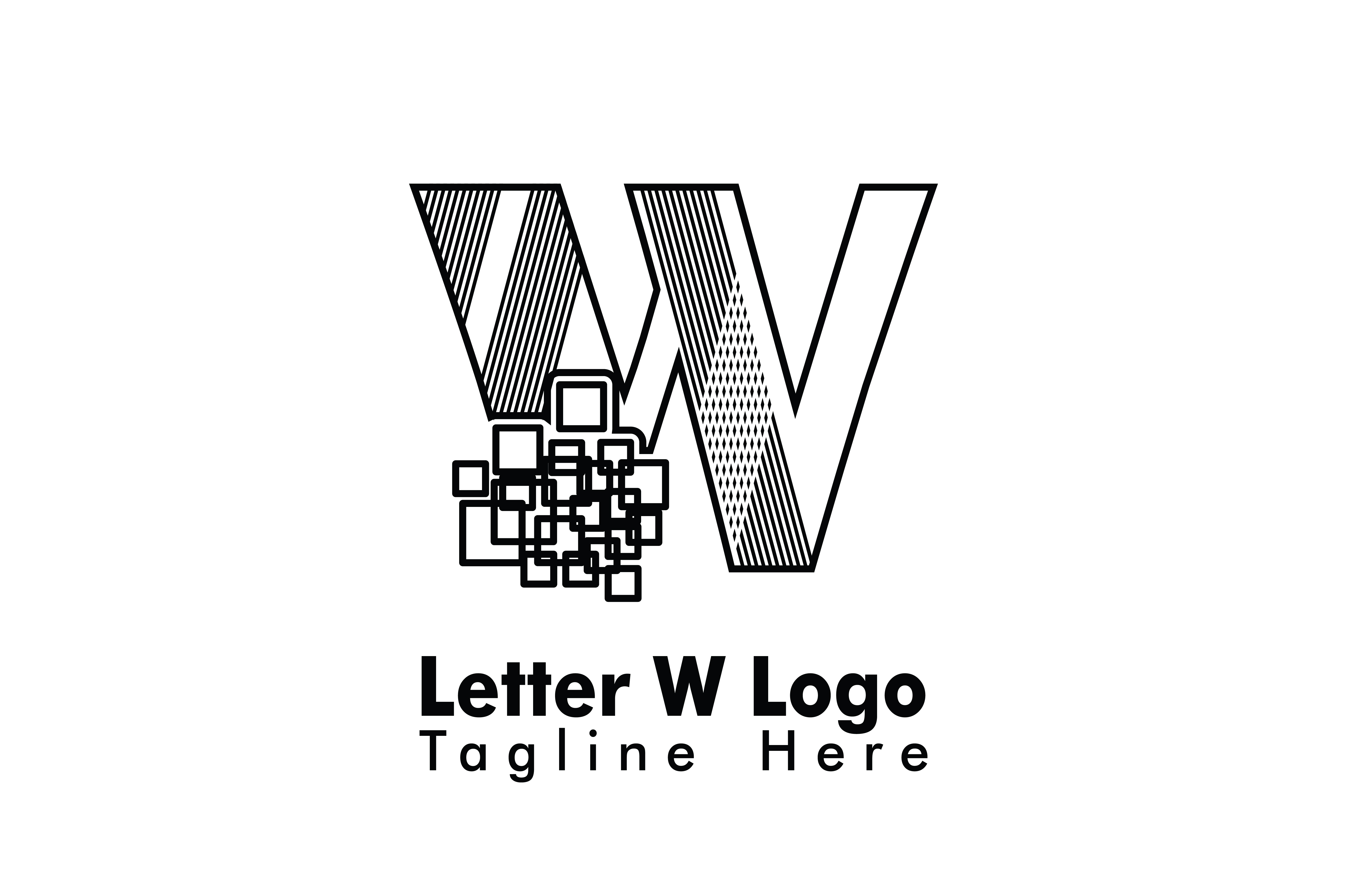 Download Free Letter W Logo Vector Grafico Por Yuhana Purwanti Creative Fabrica for Cricut Explore, Silhouette and other cutting machines.