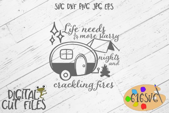 Download Free Life Needs More Starry Nights Svg Graphic By 616svg Creative for Cricut Explore, Silhouette and other cutting machines.