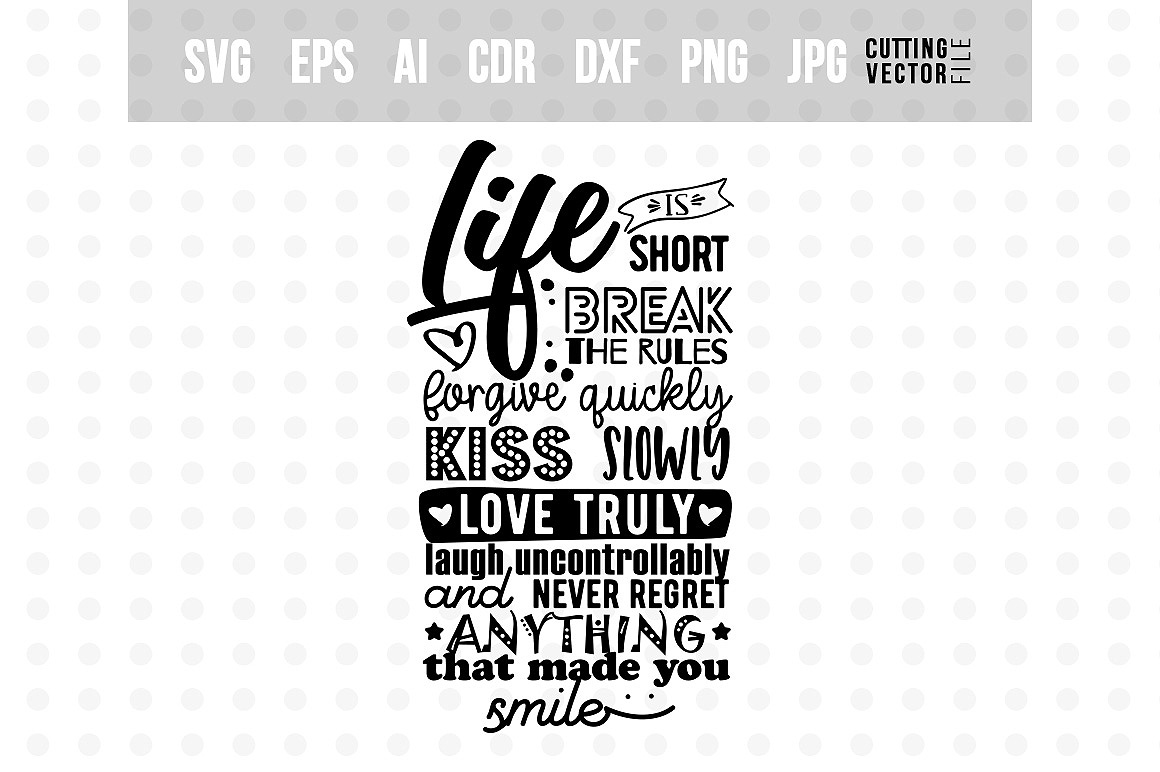 Download Free Life Is Short Graphic By Danieladoychinovashop Creative Fabrica SVG Cut Files