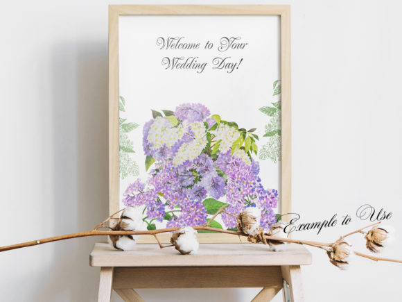 Print on Demand: Lilac Spring Garden Clipart Graphic Illustrations By natalia.piacheva - Image 3
