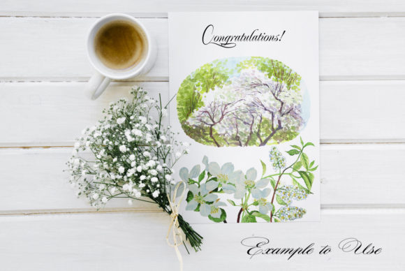 Print on Demand: Lilac Spring Garden Clipart Graphic Illustrations By natalia.piacheva - Image 5