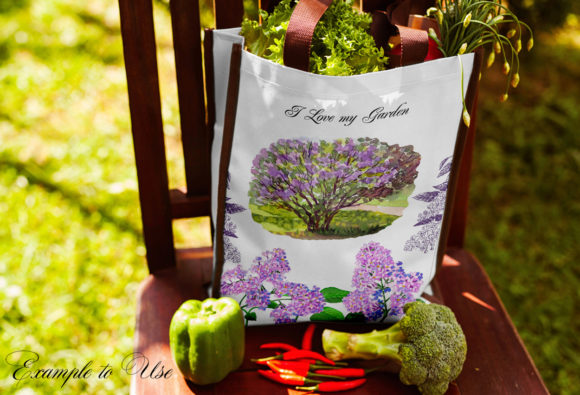 Print on Demand: Lilac Spring Garden Clipart Graphic Illustrations By natalia.piacheva - Image 7