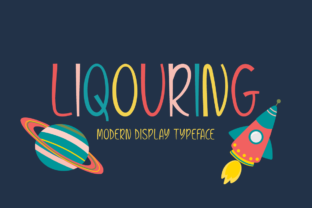 Liqouring Font By Shattered Notion
