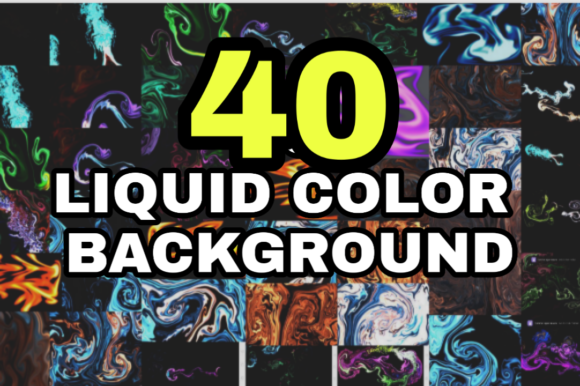 Liquid Color Full Background Graphic Backgrounds By ahmaddesign99
