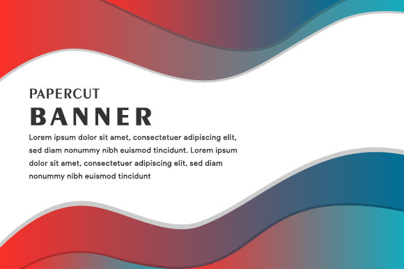 Print on Demand: Liquid Banner Horizontal Colorful Graphic Backgrounds By noory.shopper - Image 1