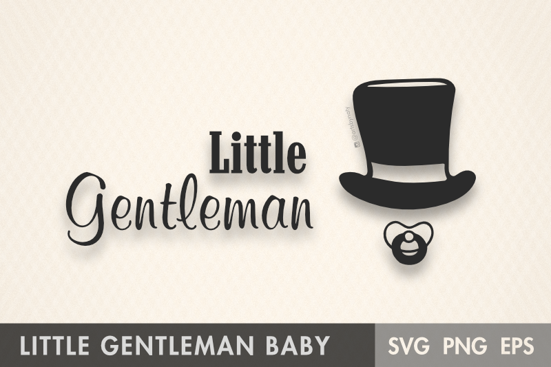 Download Free Little Gentleman Baby Boy Graphic By Artsbynaty Creative Fabrica for Cricut Explore, Silhouette and other cutting machines.