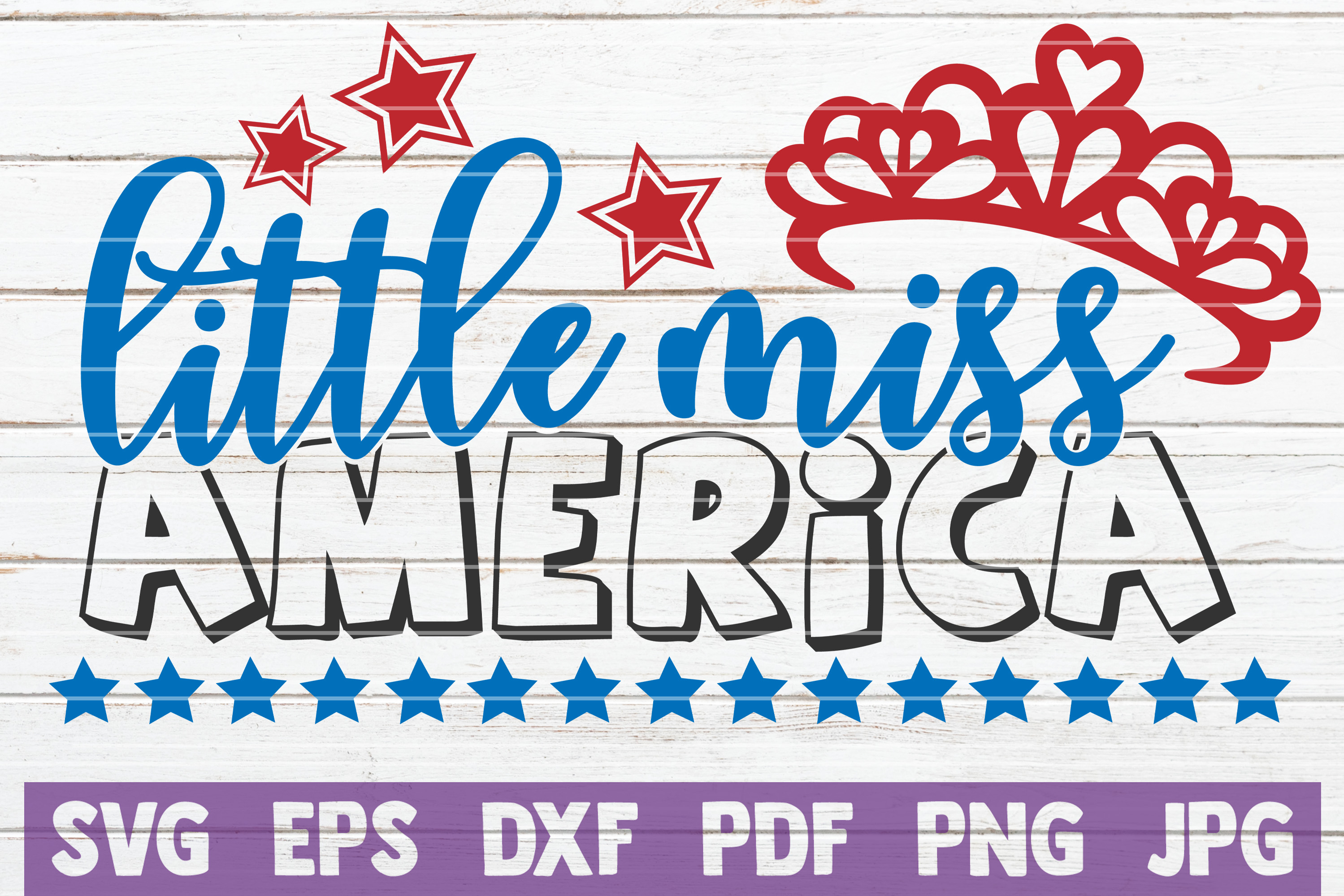 Little Miss America Svg Cut File Graphic By Mintymarshmallows