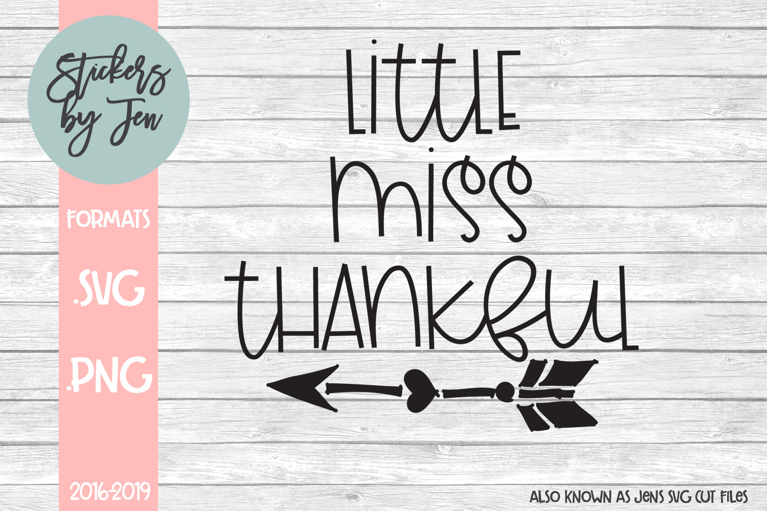 Little Miss Thankful Svg Graphic By Stickers By Jennifer