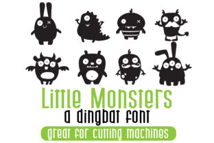 Print on Demand: Little Monsters Dingbats Font By Illustration Ink