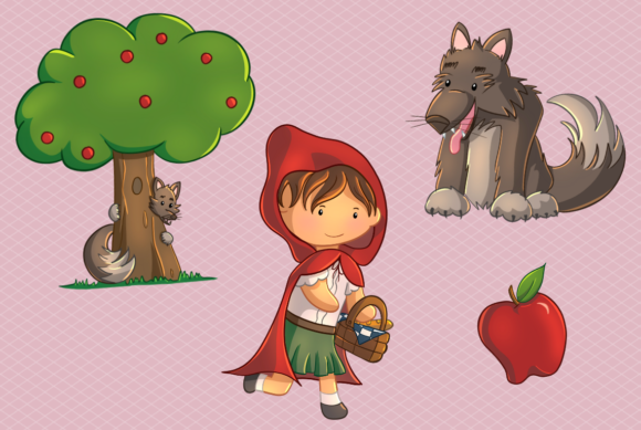 Little red riding hood Royalty Free Vector Image