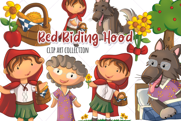 Print on Demand: Little Red Riding Hood Graphic Illustrations By Keepinitkawaiidesign
