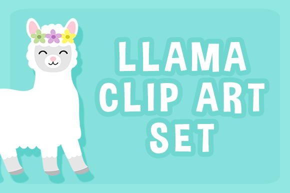 Download Free Llama Clip Art Set Graphic By Party With Unicorns Creative Fabrica for Cricut Explore, Silhouette and other cutting machines.