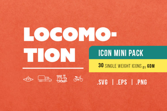 Locomotion (30)-Icon Mini Pak by GDM Graphic By graphicdesignmarket