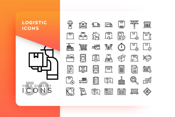Print on Demand: Logistic Icon Graphic Icons By Goodware.Std