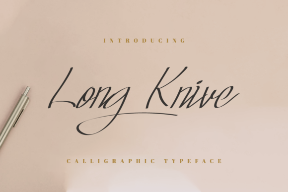 Print on Demand: Long Knive Script & Handwritten Font By EdricStudio