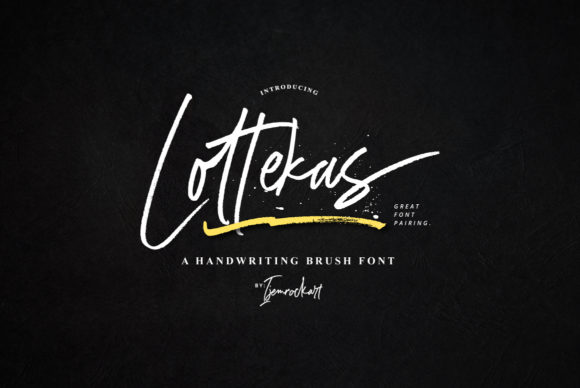 Print on Demand: Lottekas Script & Handwritten Font By Ijem RockArt