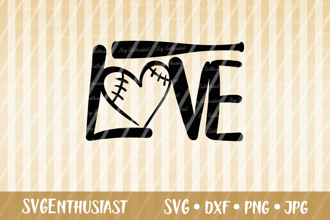 Download Free Love Baseball Svg Cut File Graphic By Svgenthusiast Creative for Cricut Explore, Silhouette and other cutting machines.