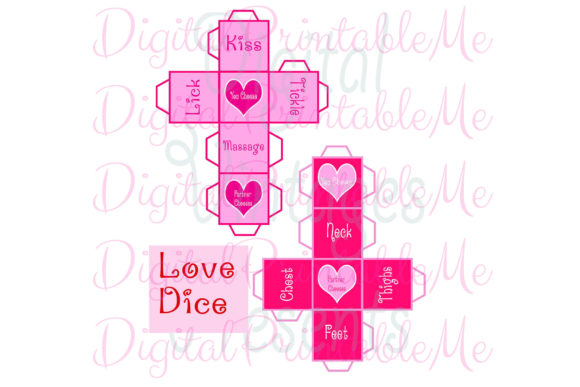 Download Free Love Dice Valentine S Day Game Naughty Graphic By for Cricut Explore, Silhouette and other cutting machines.