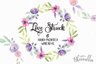 Love Struck Wreaths Flowers Watercolor Graphic By Bloomella