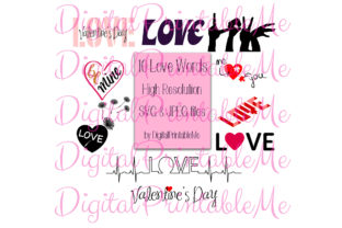Download Free Love Word Clip Art Set Of 10 Quote Svg Graphic By for Cricut Explore, Silhouette and other cutting machines.