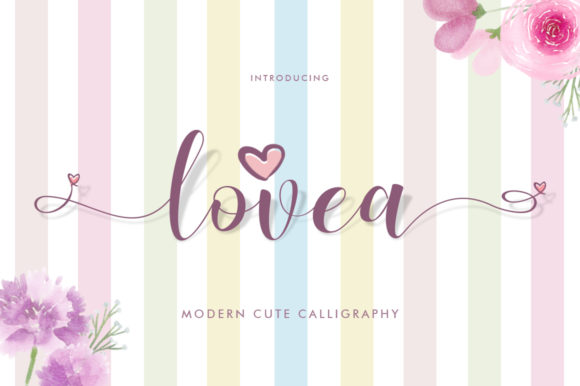 Print on Demand: Lovea Script Script & Handwritten Font By Khurasan - Image 1