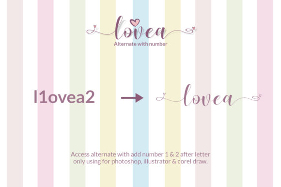 Print on Demand: Lovea Script Script & Handwritten Font By Khurasan - Image 7