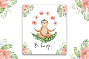 Lovely Sloths Watercolor Animals Clipart Graphic Illustrations By EvgeniiasArt 11