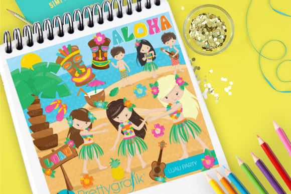 Print on Demand: Relaxing Luau Party Graphic Illustrations By Prettygrafik