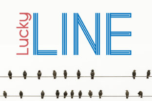 Lucky Line Display Font By da_only_aan