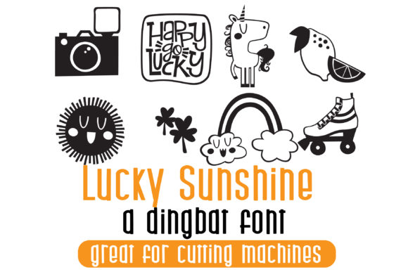 Print on Demand: Lucky Sunshine Dingbats Font By Illustration Ink