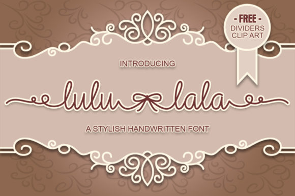 Print on Demand: Lulu-Lala Script & Handwritten Font By Graphix Line Studio