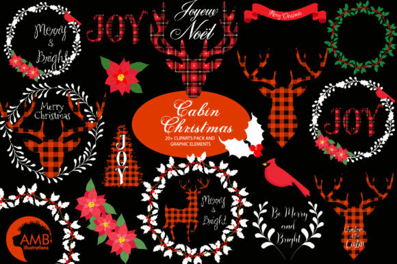 Download Free Lumberjack Christmas Clipart Amb 2106 Graphic By for Cricut Explore, Silhouette and other cutting machines.