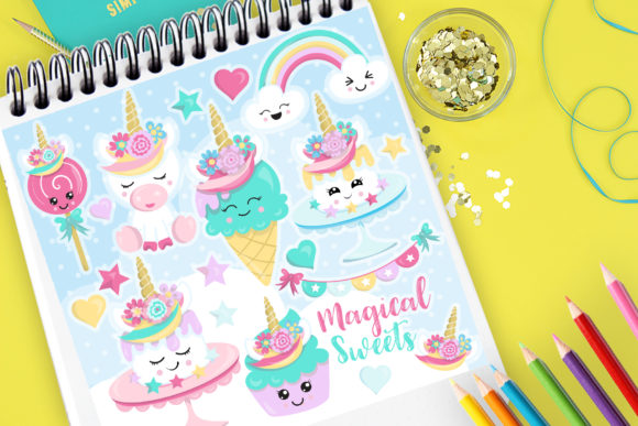 Print on Demand: Magical Sweets Graphic Illustrations By Prettygrafik