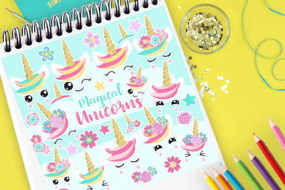 Print on Demand: Magical Unicorn Graphic Illustrations By Prettygrafik