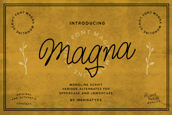 Print on Demand: Magna Script & Handwritten Font By InspiraType